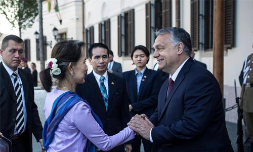 Aung San Suu Kyi's unholy alliance with Viktor Orban, a new low