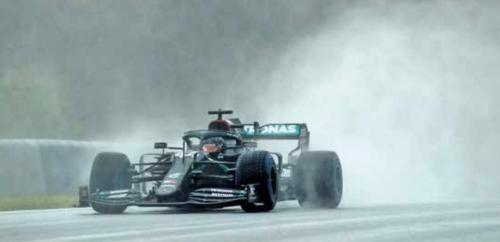 Rain king Hami storms to Styrian GP pole