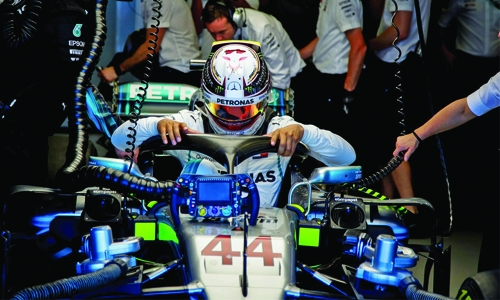 Hamilton fastest in practice