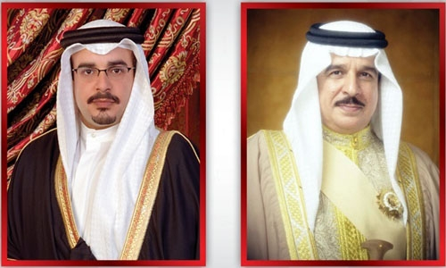 HM the King is congratulated by HRH Crown Prince and Prime Minister