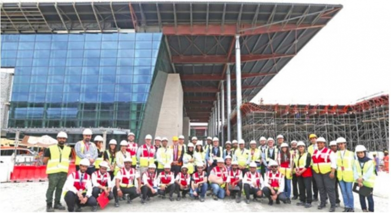 Training progress of 1,300 operators at new terminal building stressed