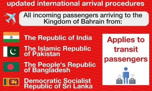 Bahrain updates travel procedures for passengers from Sri Lanka