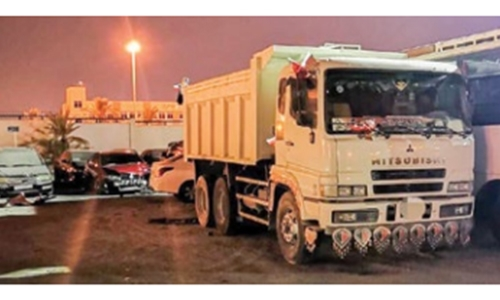 Trucker detained by police for reckless driving