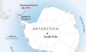 Antarctica registers temperature of over 20 C