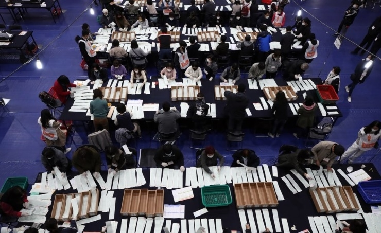 South Korea's ruling party wins majority in parliamentary elections
