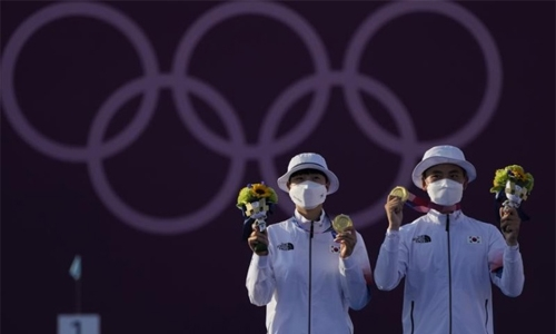 South Korea wins gold in archery's mixed team Olympic debut