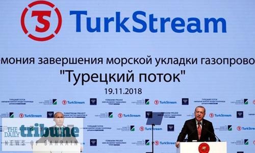 Russia begins TurkStream gas flows
