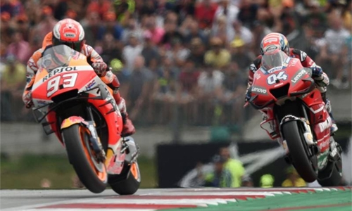 Dovizioso pips Marquez to win Austrian MotoGP