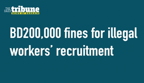 BD200,000 fines for illegal workers' recruitment