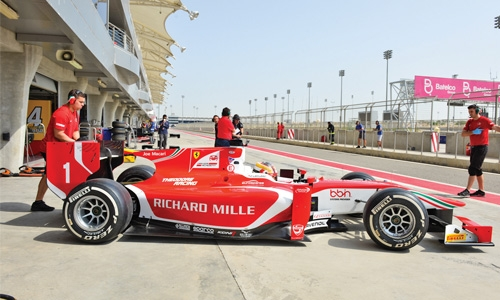 Formula 2 testing at Bahrain International Circuit