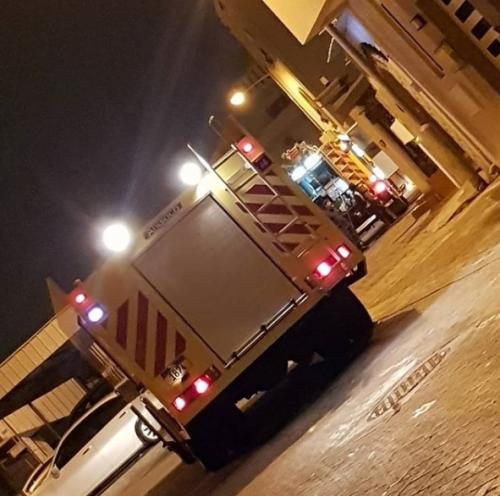 Fire broke out in a house in Hamad Town