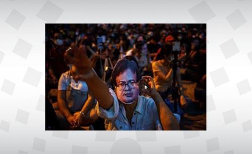Thai anti-government protesters hold rallies outside Bangkok