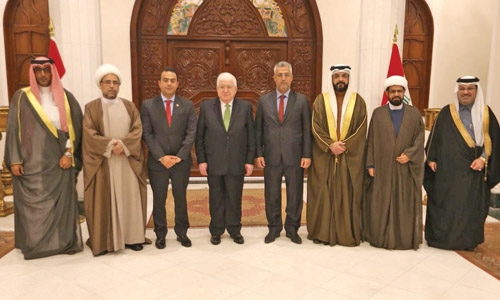 Iraqi president vowes full support for war on terror