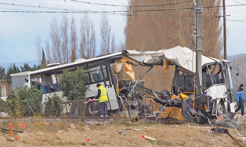 Four Children Dead and Twenty Injured After School Bus and Train Collide