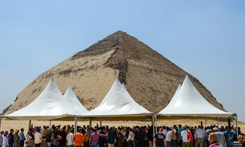 Egypt opens two ancient pyramids, unveils new finds