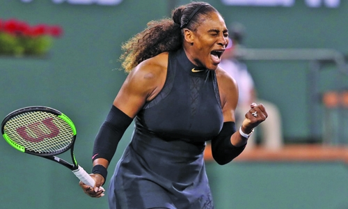 Steely determination to return to top marks Williams' triumphant Indian Wells return
