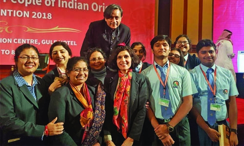 NMS students meet Dr. Shashi Tharoor