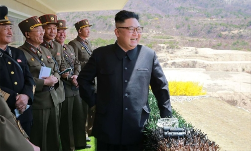 N. Korea marks military anniversary with firing drill