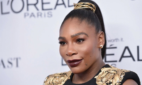 Serena attends first public event