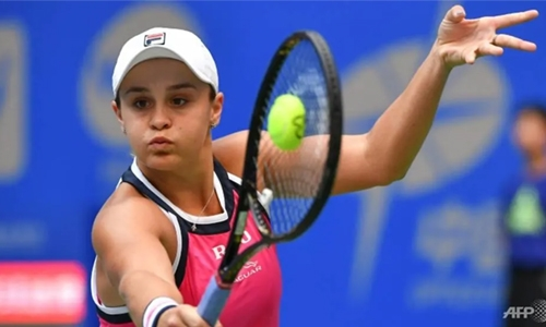 Barty in party mood after epic Wuhan win