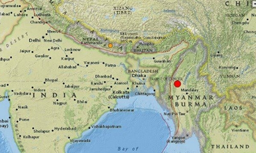 Magnitude Quake Hits Northern Myanmar DT News Bahrain - Where is bahrain