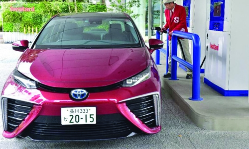 Japan car giants to build hydrogen stations
