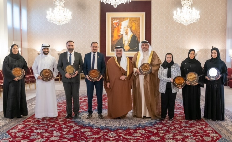 HRH the Crown Prince awards eight government service centers receiving the gold classification under the Taqyeem program