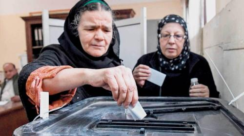 "Egyptians vote to ""Do the right"""