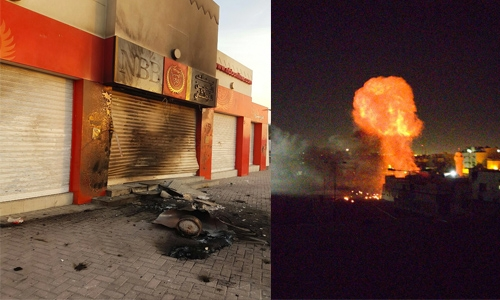 Terrorists attack National Bank of Bahrain