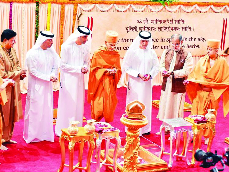 Hindu temple foundation stone laid