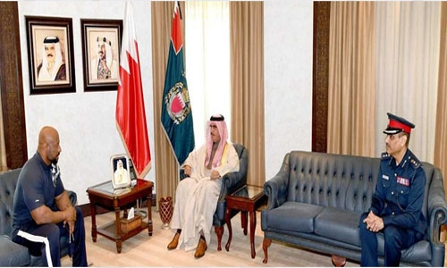 Interior Minister receives bodybuilding champion Sami Al Haddad