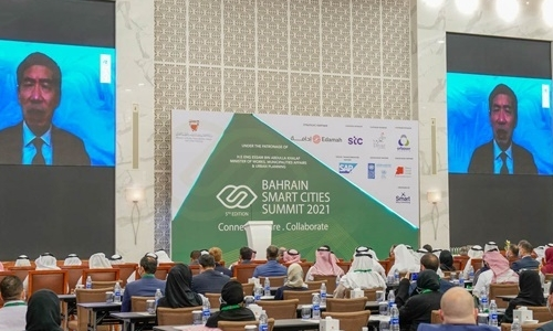 Works Minister opens Bahrain Smart Cities Summit 2021