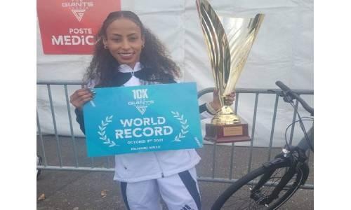 Bahrain's Kalkidan sets new World Record in 10K road race