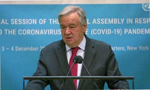 UN chief: Vaccine can't undo damage from global pandemic