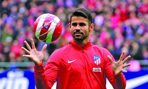 Costa in Atletico squad