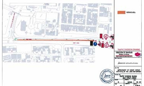 Kuwait Avenue left lane to be closed from today