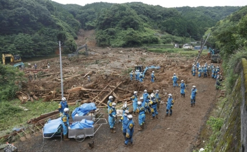 Torrential southern rains return in Japan