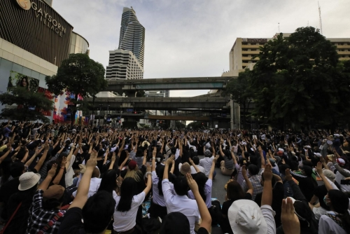 Thai protesters defy emergency with new rally in central Bangkok