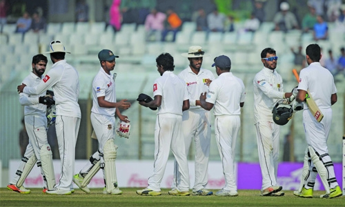 Bangladesh draw first Test