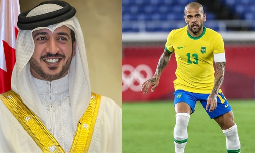 HH Shaikh Khalid's global announcement of BRAVE National League praised and supported by Dani Alves
