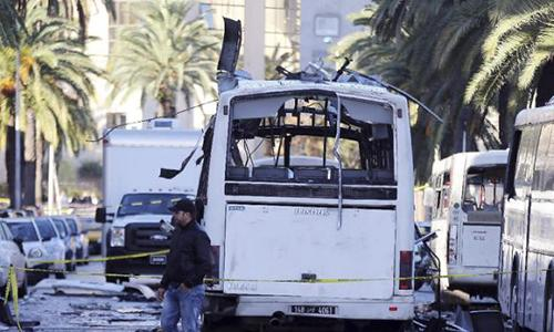 IS claims deadly Tunisia bus bombing