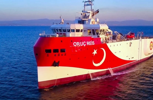 A Turkish exploration ship returns to its list after international pressure