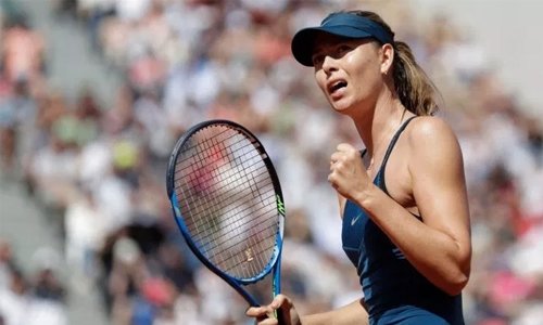 Sharapova returns to action with a win in Mallorca Open