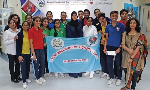 New Millennium School-DPSholds charitydrive