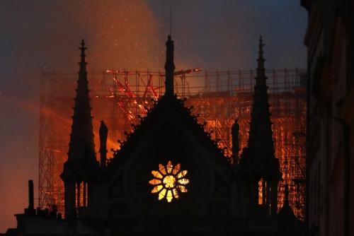 Bernard Arnault and Salma Hayek's husband pledge hundreds of millions of euros to reconstruct Notre Dame