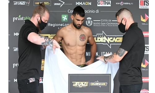 All fighters make weight for tomorrow night's BRAVE CF 52 event in Milan