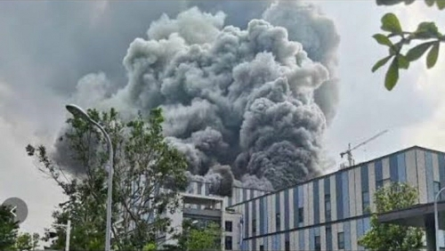 Huawei research lab in southern China catches fire: state media