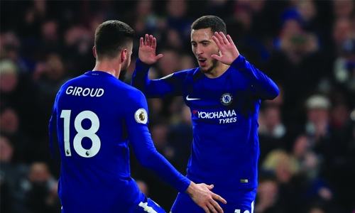 Hazard brace lifts Chelsea