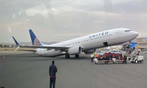 Plane tips backwards at airport in the US, the airline says happened due to shift of weight