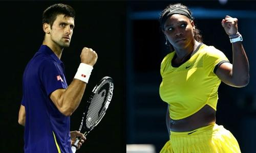 Serena, Djokovic in charge